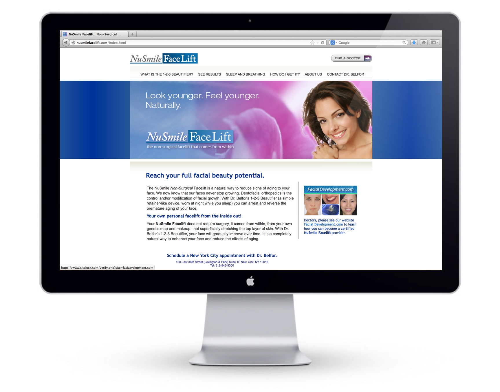 NuSmile Facelift Website