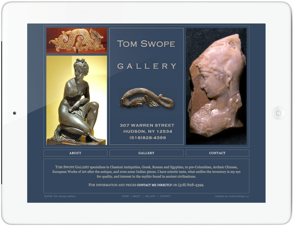 Tom Swope Gallery Website - home