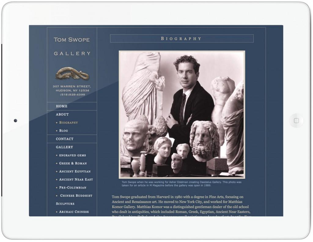 Tom Swope Gallery Website - biography