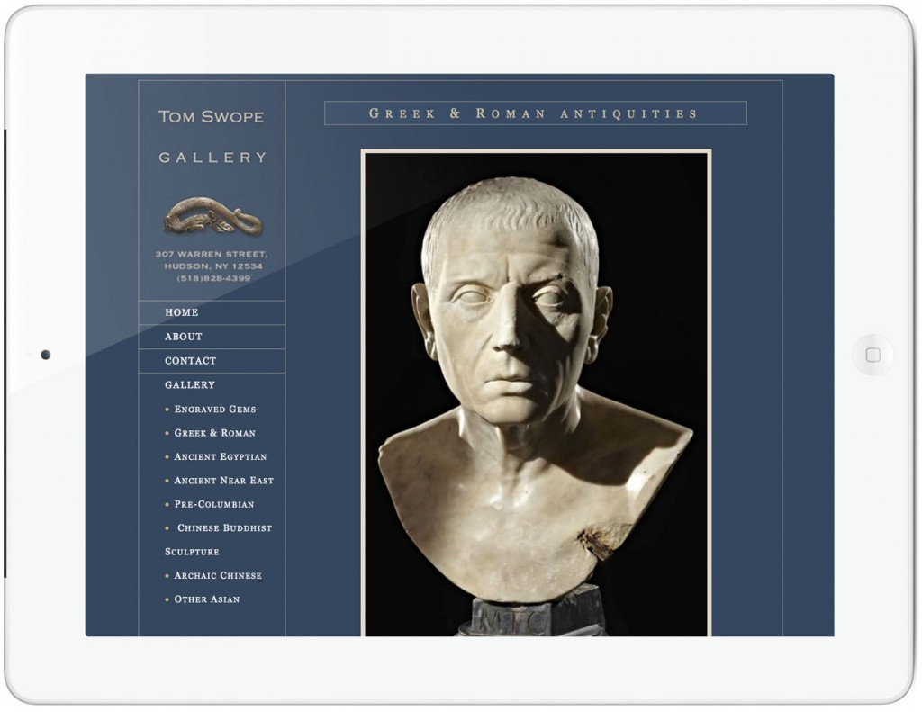 Tom Swope Gallery Website - detail page