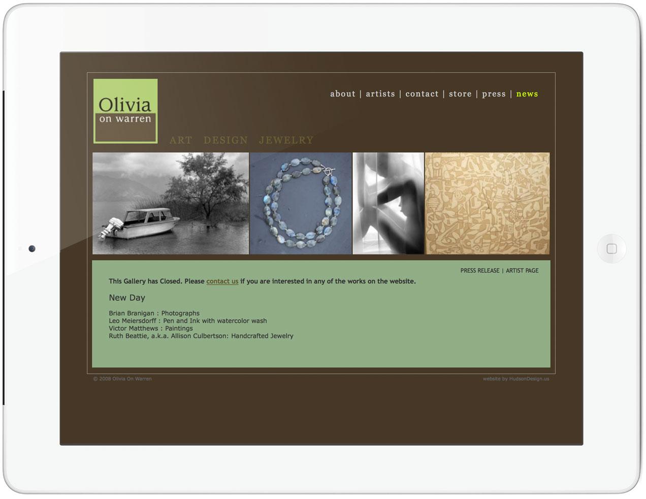 Olivia on Warren Homepage
